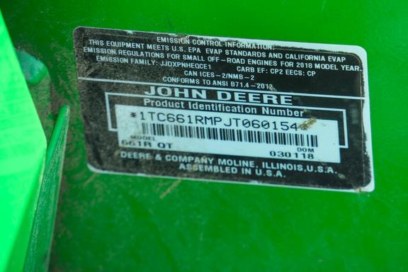 2018 John Deere 661R TC-15