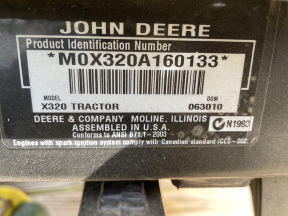 2010 John Deere X320-7