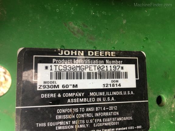Photo of 2015 John Deere Z930M