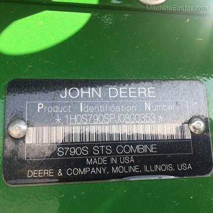 Photo of 2018 John Deere S790