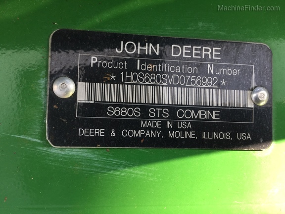 Photo of 2013 John Deere S680