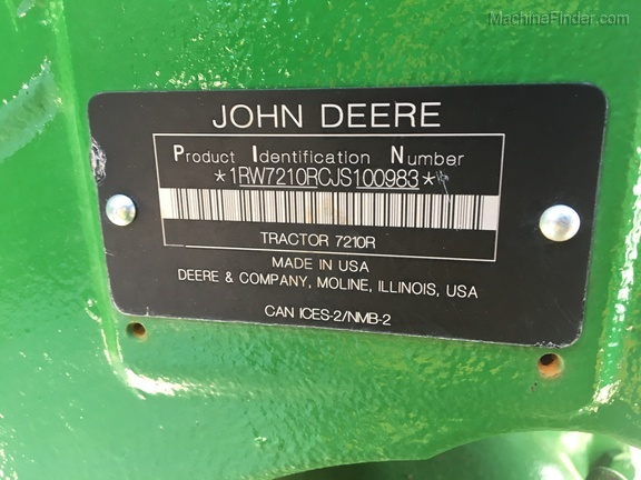 Photo of 2018 John Deere 7210R