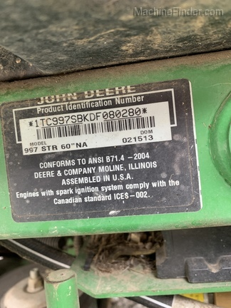 Photo of 2013 John Deere 997
