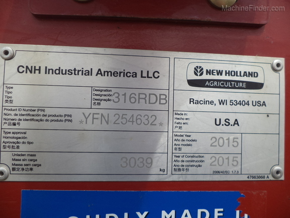 2015 New Holland 316 Image 1