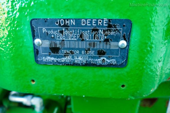 2018 John Deere 6105E-31