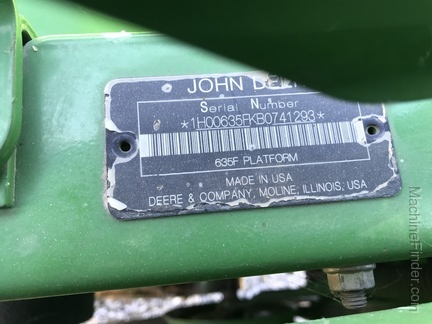 Photo of 2011 John Deere 635F