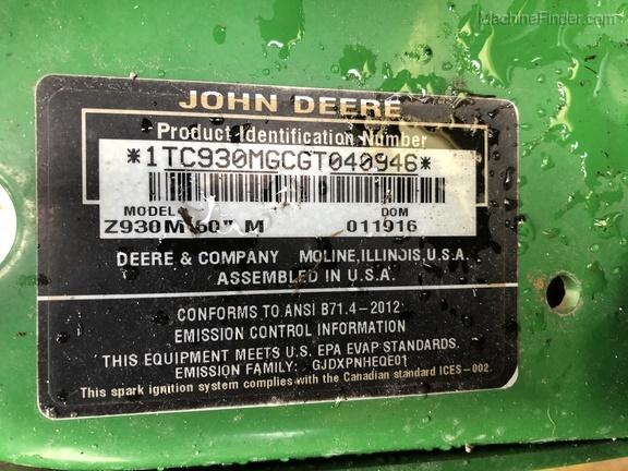 Photo of 2016 John Deere Z930M