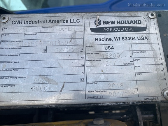2018 New Holland SP.345F Image 20