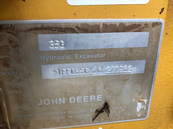 Pre-Owned John Deere 35G in Plant City, FL Photo 6