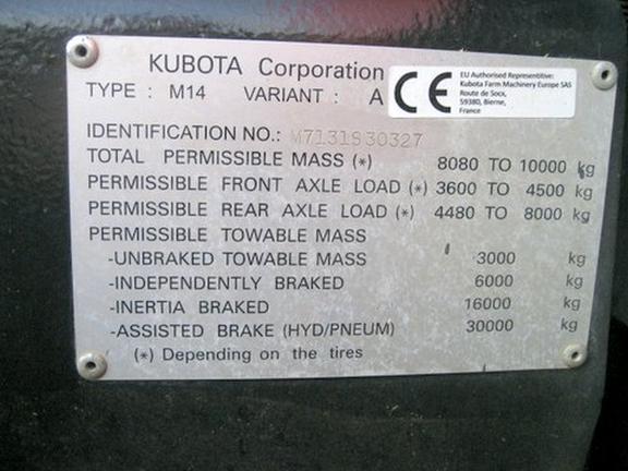 Kubota M7131