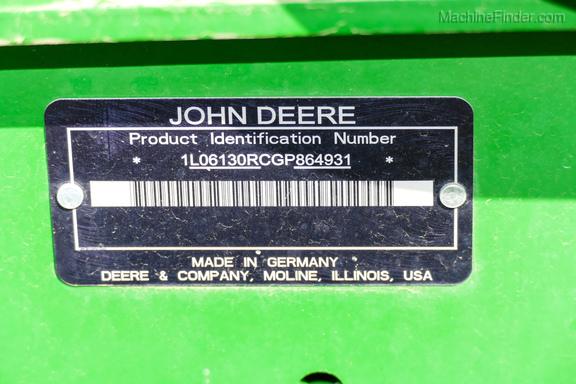 2016 John Deere 6130R-38