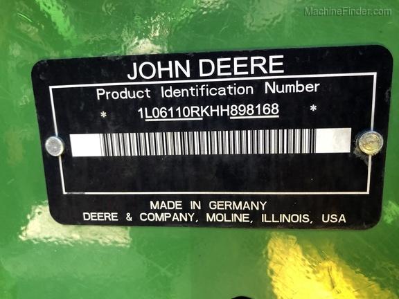 Photo of 2018 John Deere 6110R