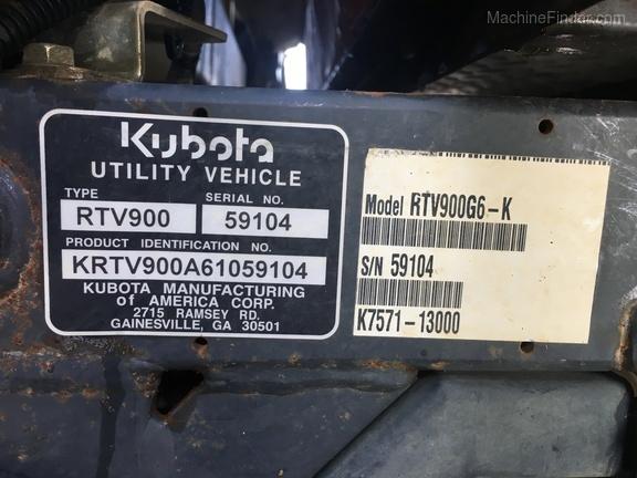 Photo of 2010 Kubota RTV900